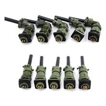 Military standard kabel anschlüsse MIL DTL 5015 Servo stecker 14S 9 2 pin stecker buchse 3 pin 14S 7 14S 6 14S 5 14S 2