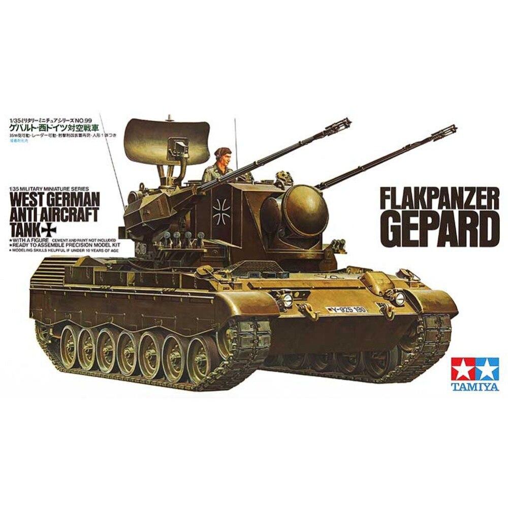 OHS Tamiya 35099 1/35 West German Anticraft Tank Flakpanzer Gepard Military Assembly AFV Model Building Kits oh ohs tamiya 35285 1 35 german tank destroyer hetzer mid product 38t military assembly afv model building kits