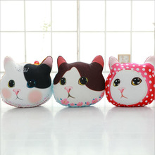 Creative Lovely Big Face Cats Short Plush Toy PP Cotton Stuffed Animal Doll Pillow Toys Gift