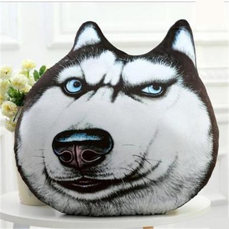 40CM 2016 One Piece 3D Super Soft PP Cotton Dogs Plush Cushions Creative Pillows PP Cotton Stuffed Sleeping Bedroom Toys 6 Style