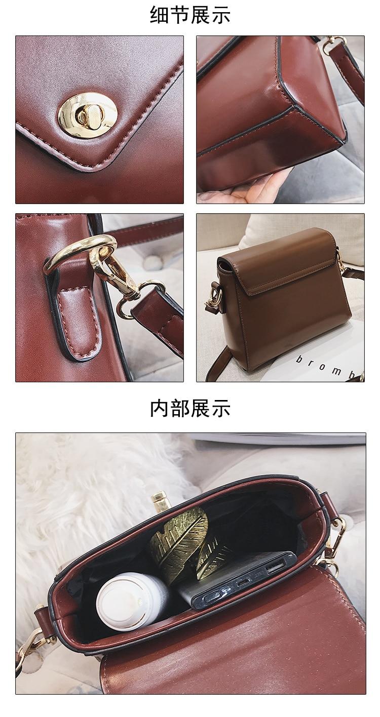 European Fashion Retro Ladies Square bag 2018 New High quality PU Leather Women's Designer Handbag Lock Shoulder Messenger Bags 25
