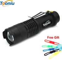 High Quality CREE Q5 XML-T6 3800lm Waterproof 3 Modes Mini LED Flashlight Adjustable Focus Zoomable Torch Lights