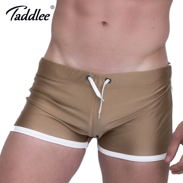 Taddlee Brand Men's Shorts Boxer Trunks Solid Fashion New Summer 2017 Activewear Low Rise Sexy Short Bottoms Men Jogger