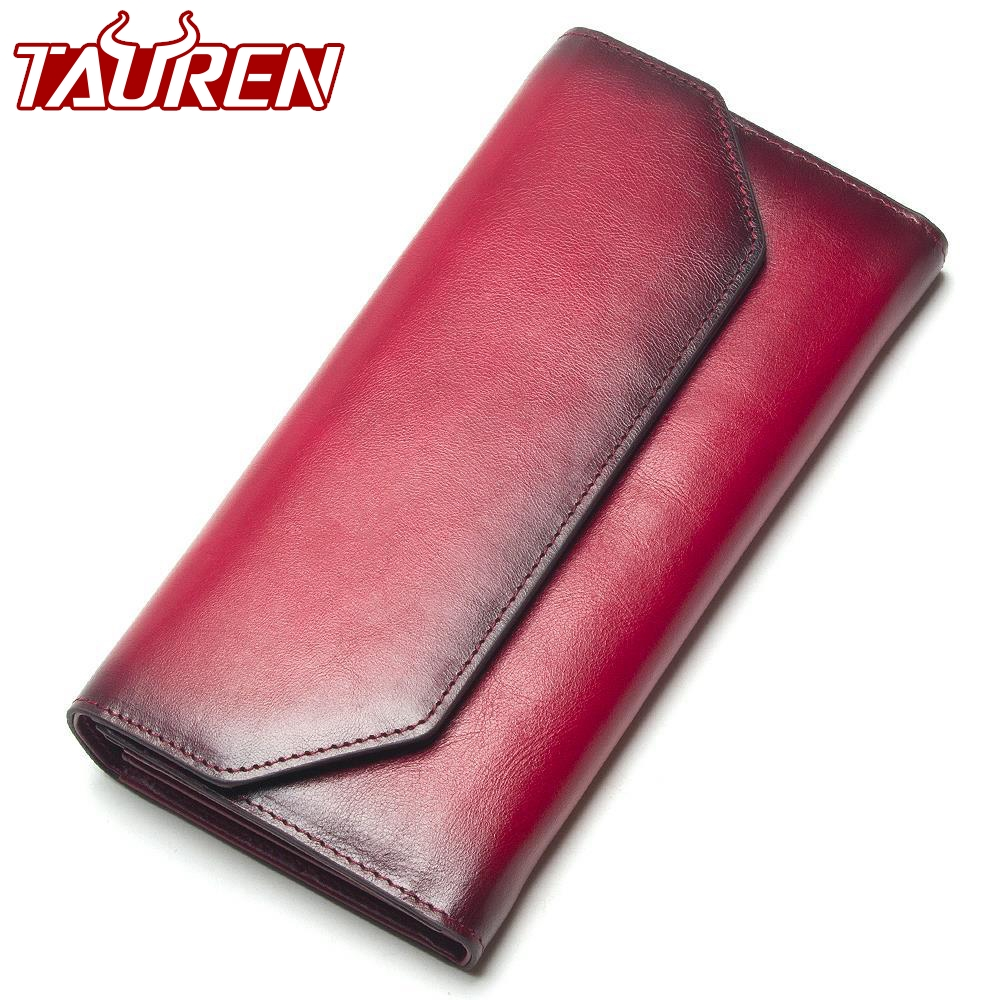 2019 New Fashion Wallet Women Genuine Leather Wallet Vintage Brand Women Purse Long Purse Coin Purse Phone Pocket For Iphone7s