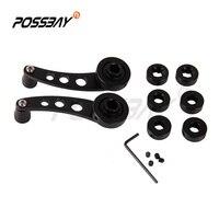 Possbay 1 пара черный Высокое качество заготовки Алюминий окна рукоятки намотки для автомобиля грузовик Палочки до двери стайлинга автомобиле...
