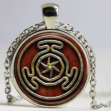 1pcs Wheel of Hecate Symbol jewelry Glass Cabochon Necklace HZ1
