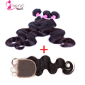 Queens Hair Products Peruvian Virgin Hair Body Wave With Closure,4Pcs/lot Aliexpress Hair Peruvian Body Wave ,Queen Weave Beauty