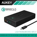 Aukey 30000 мАч Power Bank Быстрый Charge3.0 Внешнее Зарядное Устройство + Типа с Кабель