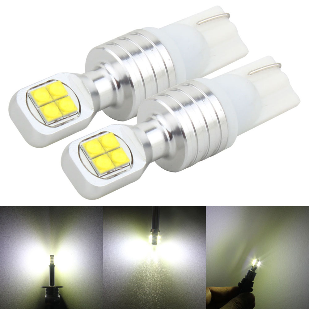 2x W5W LED T10 CREE XBD Chips 40W Car lamps 168 194 BA9S T4W License Plate Light Trunk Clearance Lights Reading lamp White