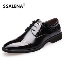 Men Lace Up Wedding Dress Shoes Men High Quality Oxford Leather Flat Shoes Pointed Toe Working Shoes For Men AA10044