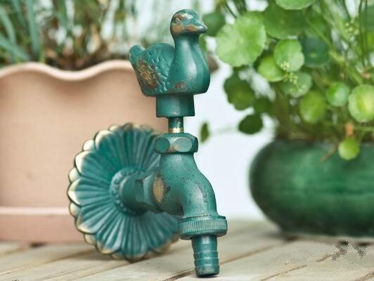 MTTUZK robinet de jardin extérieur forme animale Bibcock antique en laiton canards robinet pour lavage vadrouille/jardin arrosage animal robinet