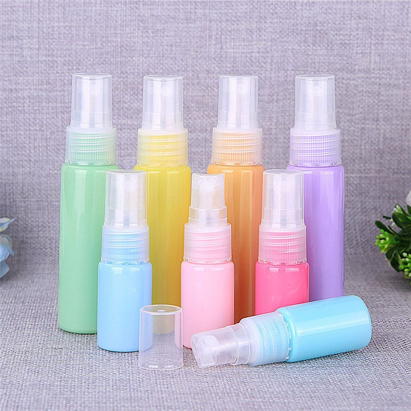 1 PCs 10ml 30ml Empty Plastic Refillable Spray Bottles Mini Transparent Bottle Portable Perfume Atomizer Travel Accessories