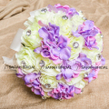 Fashion Lilac And Cream Artificial Bridesmaid Flower Elegant Silk Bridal Wedding Bouquet For Romantic Wedding Decoration WF019