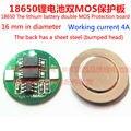 Os 18500 painéis 3.7 V 18650 placa de proteção da bateria de lítio recarregável, colocar a placa de protecção placa de proteção duplo MOS