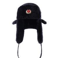 Шапки-бомберы советской армии в стиле милитари, Россия, ушанка-пилот, Кепка-Авиатор, зимняя шапка из искусственного меха, ушанки, лыжная шапка, шапка для папы