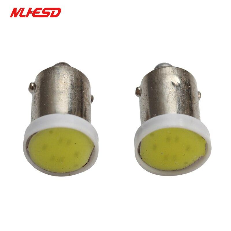 100X BA9S Ceramic COB LED Car Light Bulb License Plate/Reading/Dashboard/Door Light Automobiles Light-emitting Diode Small Lamp