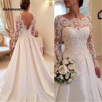 Satsweety Soft Lace Sweetheart Wedding Dresses Perfect 2019 New Applique Lace Bridal Gown Mermaid Robe De Mariage