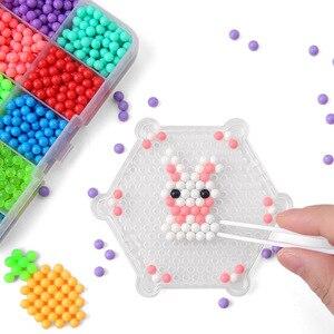 Image 3 - Koraliki DIY woda Magische Kralen Dier Mallen ręcznie Maken Kralen puzzle dzieci Educatief Speelgoed Voor Kinderen Ban Vullen