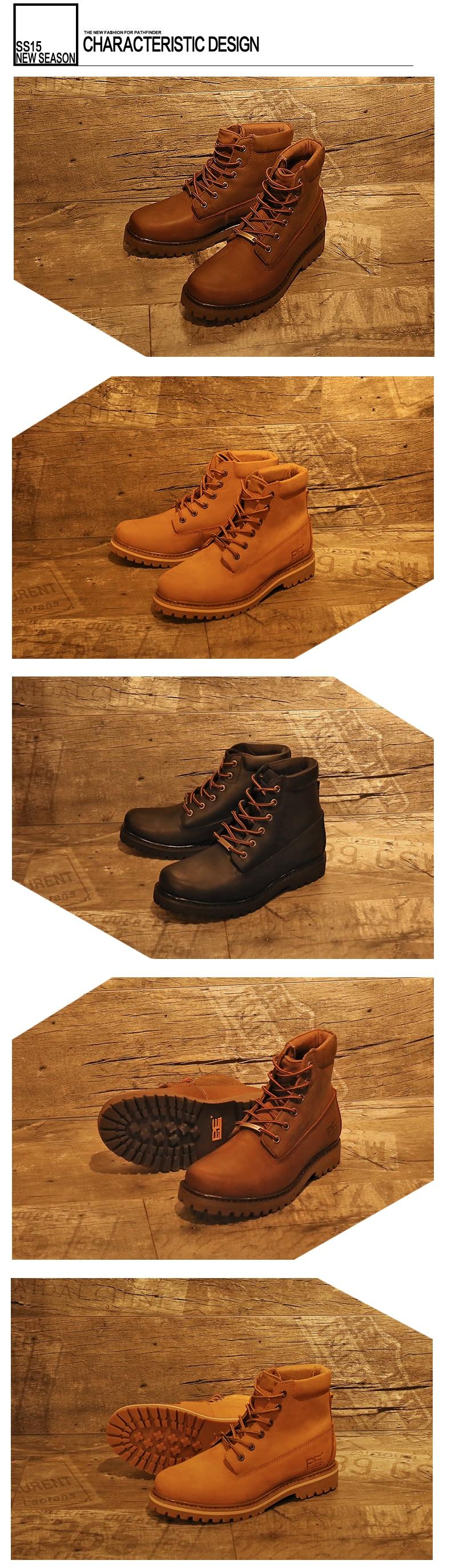 ba267cd0127a Pathfind brand new Mens En Cuir Neige Martin Outillage militaire Bottes  Hommes En Plein Air Chaussures chaudes Rétro Automne Hiver hommes bois  Bottes