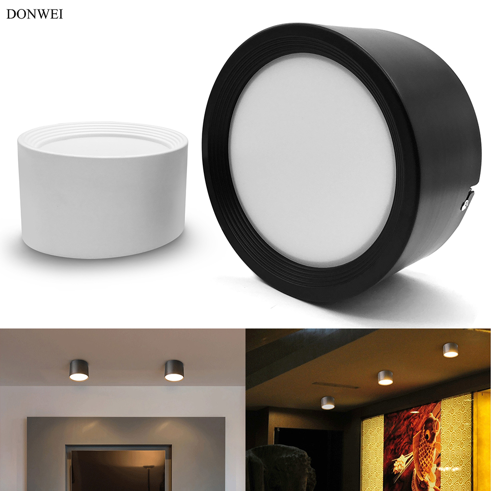 DONWEI 7W 12W 18W <font><b>24W</b></font> Indoor Decor <font><b>LED</b></font> Ceiling Light Round Surface Mounted Ceiling <font><b>Lamp</b></font> for Home Living room Hallway image