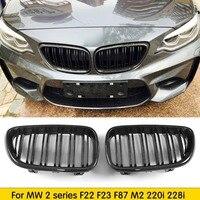 For F22 Carbon Fiber Front Bumper Grille Replacement Kidney Grill for BMW 2 series F22 F23 F87 M2 220i 228i M235i M240i 2014 +