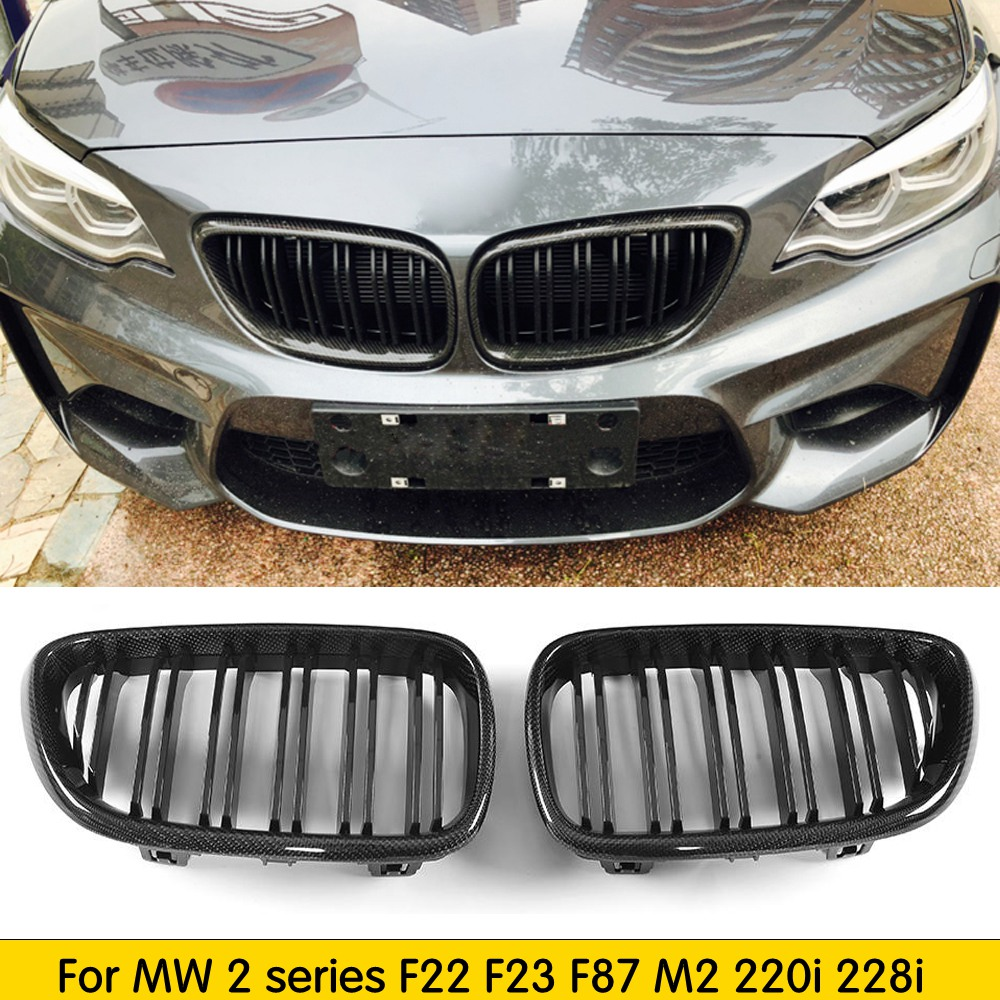 For F22 Carbon Fiber Front Bumper Grille Replacement Grill for BMW 2 series F22 F23 F87 M2 220i 228i M235i M240i 2014 + image