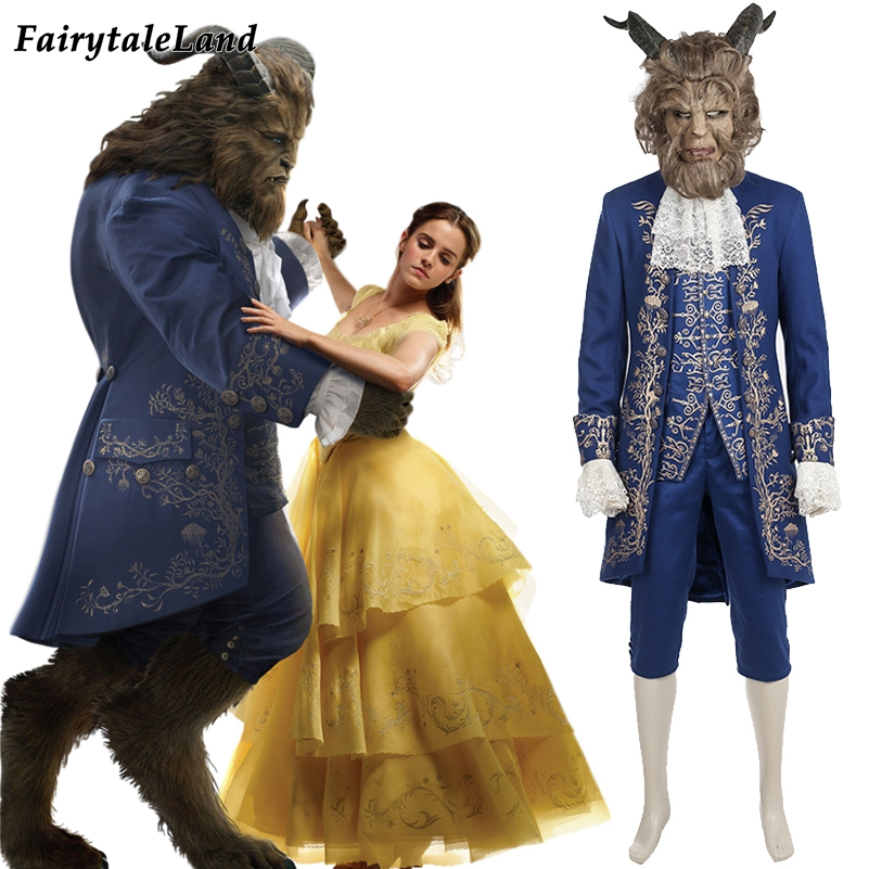 2017 Movie Beauty and The Beast cosplay costume Halloween costumes for adult Prince outfit cosplay Beauty and the Beast costume disney decoration birthday gifts beauty and the beast the little prince glass cover fresh preserved flowers rose children toys