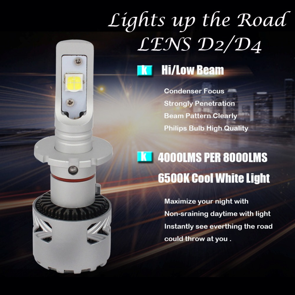 KT LED Headlights For BMW E46 Low Beam D2S Headlights H7 LED Headlight For High  Beam White Light 6000LM PER CREES SETS 12V 6V In Car Headlight Bulbs(LED)  ...