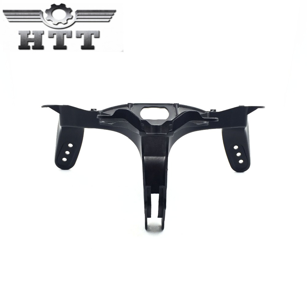 Head Cowling Headlight Front Upper Fairing Stay Brackets For 2007 2008 Yamaha YZF R1 YZFR1 YZF-R1 2007 2008 Black