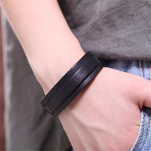 2017 New Wholesale Men jewelry love bracelets & bangles for women, Vintage Geunine Leather bracelet men bileklik bracelet femme