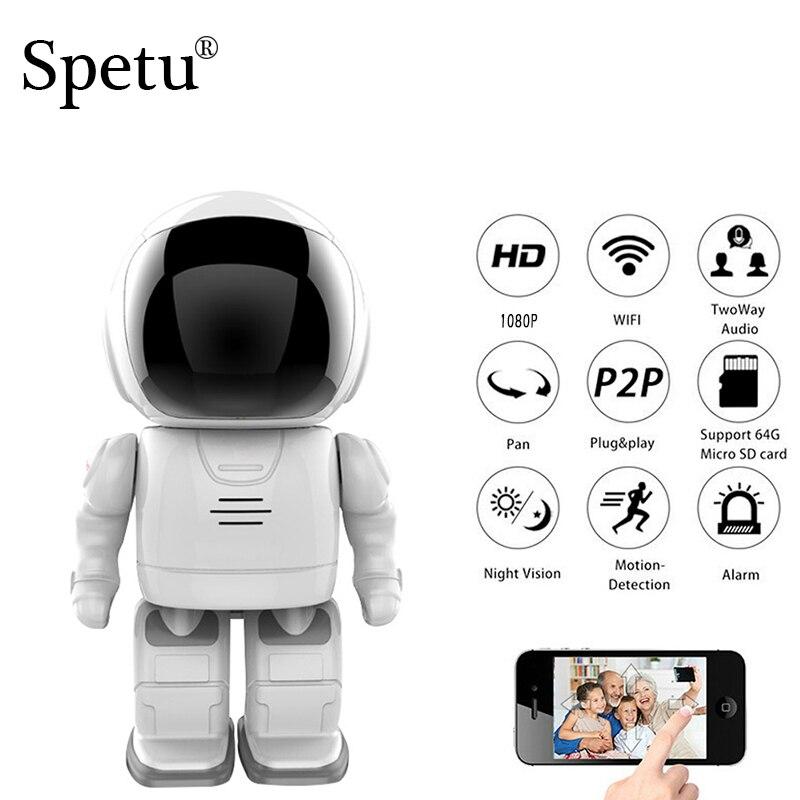 Spetu IP Camera Robot 1080P HD 2MP WIFI Wireless PTZ Two Way Audio P2P Onvif Night Vision Network Baby Monitor Security Cameras