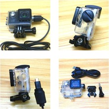 Accessories Waterproof Case Charger shell and USB Cable for SJCAM SJ4000 WiFi SJ9000 C30 R H9 For EKEN H9R Motocycle Clownfish