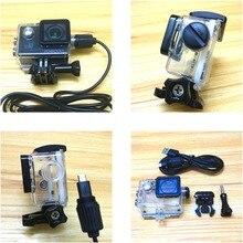 Phụ Kiện Túi Chống Nước Vỏ Cóc Sạc Và Cáp USB Cho SJCAM SJ4000 WiFi SJ9000 C30 R H9 Cho EKEN H9R Chân Ô Tô Xe Máy cá Hề