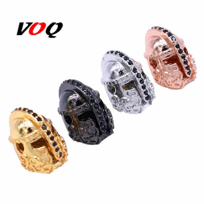 2//5//10pcs Indian Head Paracord Charm Vintage Copper Jewelry Bracelet Spacer Bead