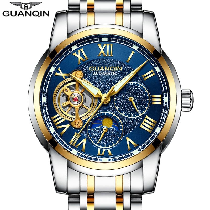 GUANQIN 2018 אוטומטיים אוטומטיים טורביון - שעונים גברים