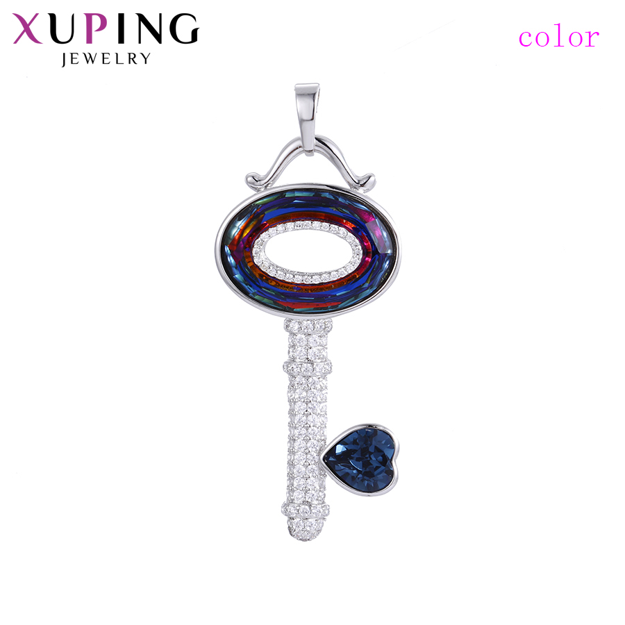 Xuping Jewelry Pendant Necklaces Key Shaped Crystals from Swarovski European Style for Women Mother's Day Gift S141.2 33544
