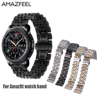 Metal Strap For Xiaomi Huami Amazfit Bip 20mm 22mm Amazfit Pace Stainless Steel Amazfit Stratos Smart