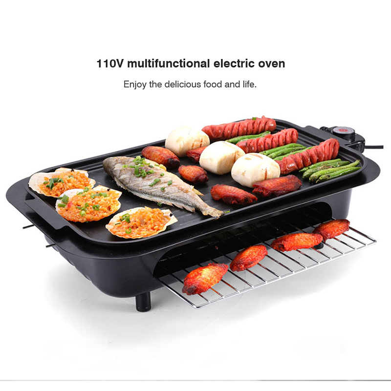 110v Multi Function Electric Grill Griddles Indoor Barbecue Churrasqueira Eletrica Bbq Equipment Rotisserie Parrilla