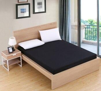 100% poliéster hoja de cama de Color sólido equipado hoja hojas de poliéster en una banda elástica Venta caliente cama Linens85