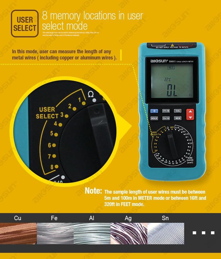 Moderno misuratore di lunghezza del cavo digitale Display a 4 1/2 - Strumenti di misura - Fotografia 3
