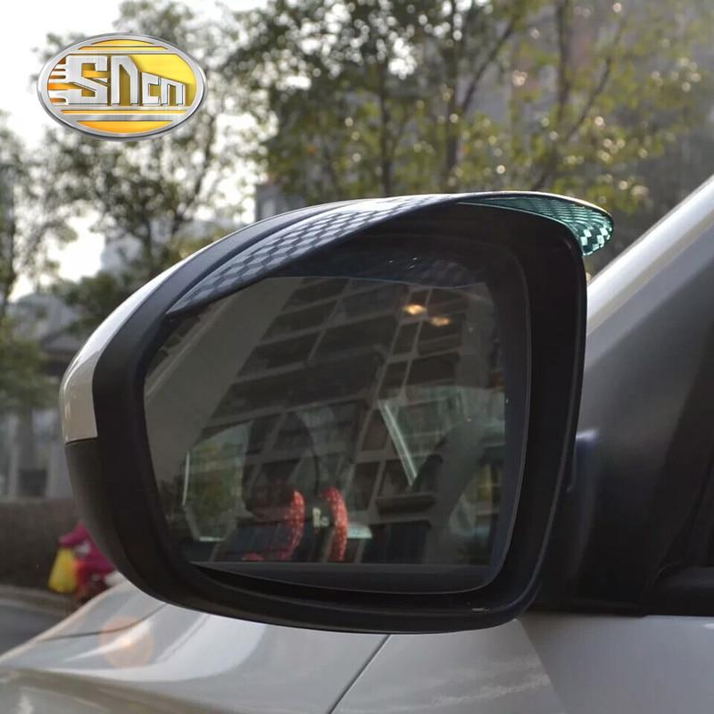 SNCN 2PCS Car Rearview Mirror Eyebrow Cover Rain proof Snow ...