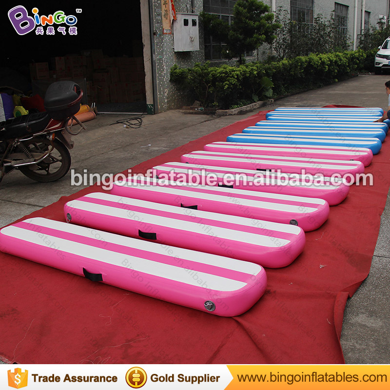 Portable 2X0.4m Inflatable Gymnastics mats air track fitness sport mats jumping gym mat with blower for sport game 8 2m sport using air track mat gymnastics air track factory