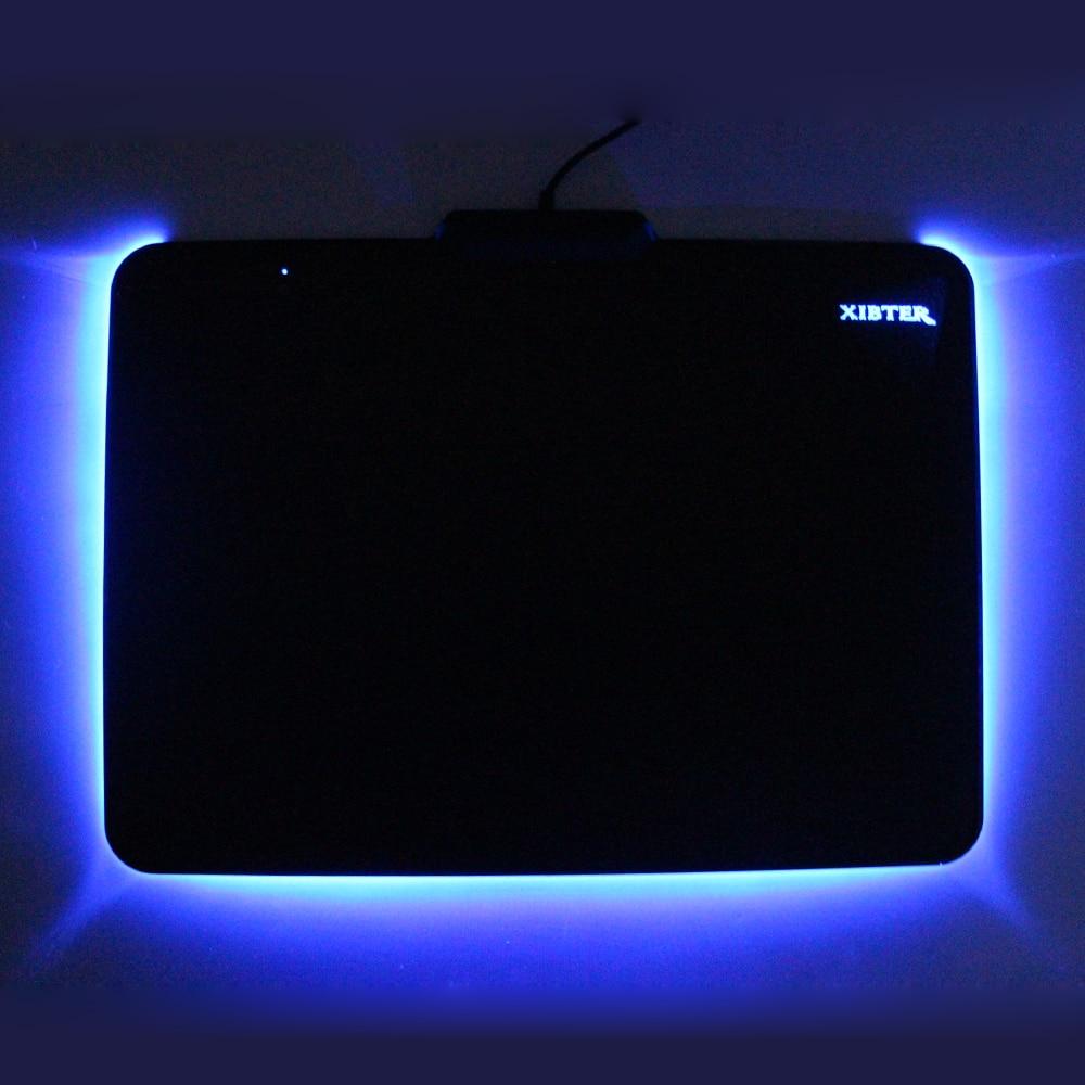 Hot PC Gaming Muismat Kleur Verlichting Rubber Basis Acryl Rand Grote - Computerrandapparatuur - Foto 1