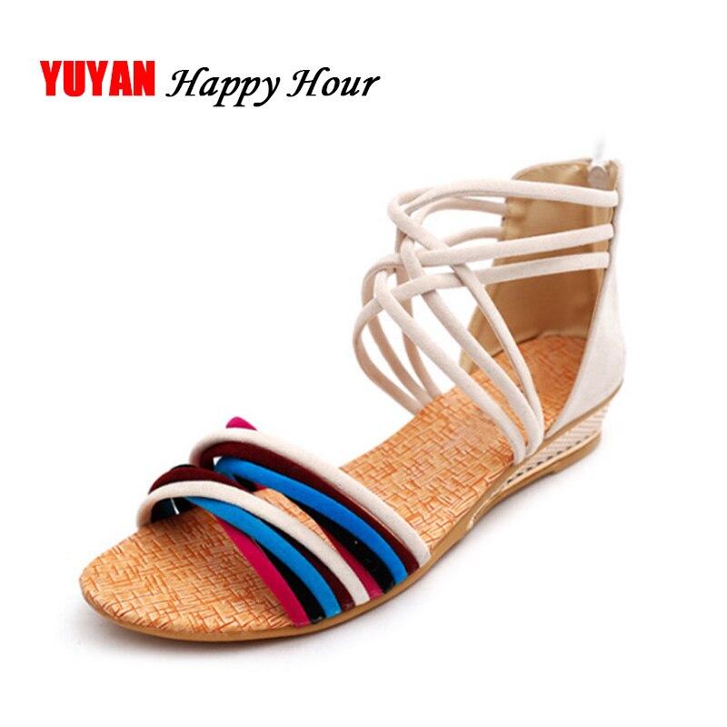 New Summer Sandals for Women Wedge Heels Shoes Fashion Women's Sandals Ladies Brand Summer Shoes Elegant Peep toe Zip ZH154