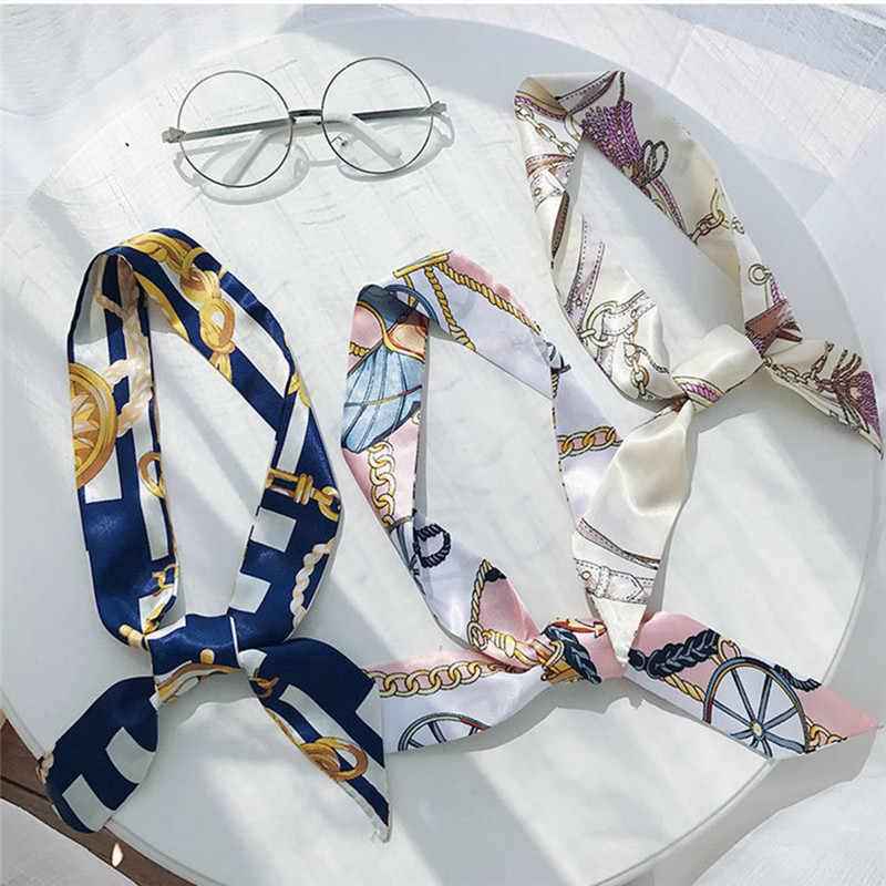 1 шт. Горячая мини-саржа цветочный шарф ручка галстук сумка ремень сумка Аксессуары повязка лента бант украшение сумка аксессуары