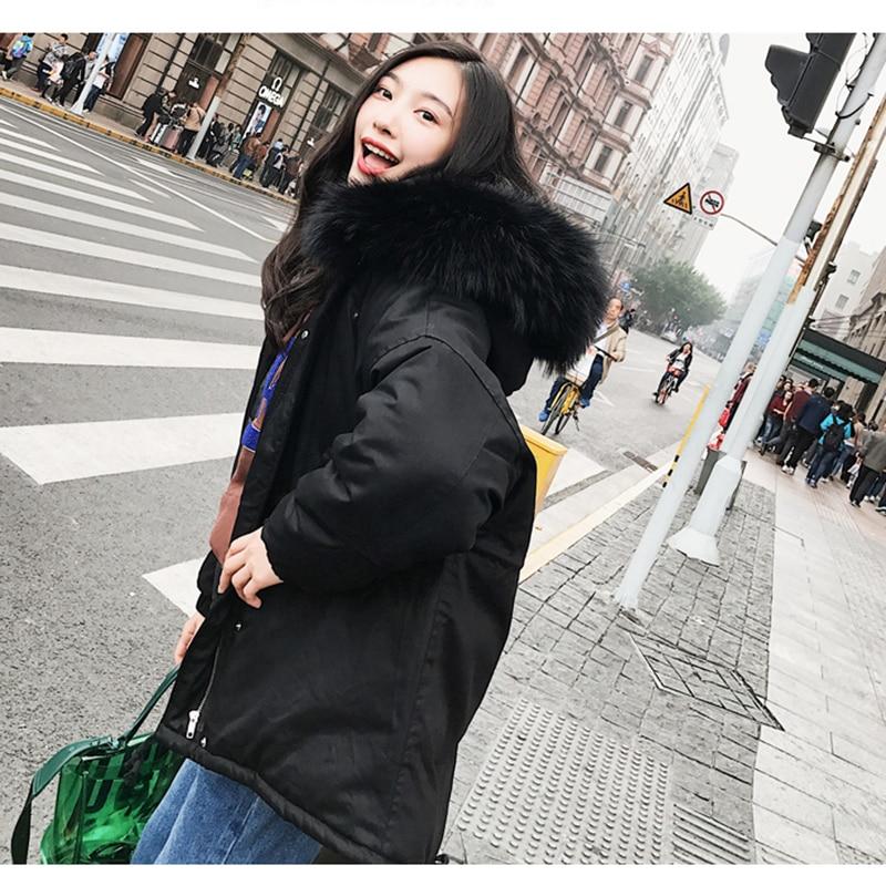Solide 2019 Femmes Manteau Col Colorée Type De Fourrure Fermetures Black New beige Femelle Glissière Cape Version À Veste En Hiver Capuche Grand Lâche Coréenne Xy043 Coton xqpqwHZcrX