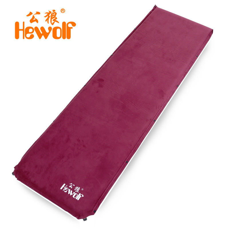 6.5cm thick hewolf suede automatic inflatable cushion moisture-proof mattress outdoor camping tent mat nap mat with copper mouth