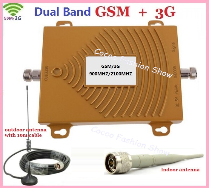 Dual Band 65dbi 3G W-CDMA 2100MHz + GSM 900Mhz Cell Phone Signal Booster , 3G repetidor de sinal celular signal repeaterDual Band 65dbi 3G W-CDMA 2100MHz + GSM 900Mhz Cell Phone Signal Booster , 3G repetidor de sinal celular signal repeater