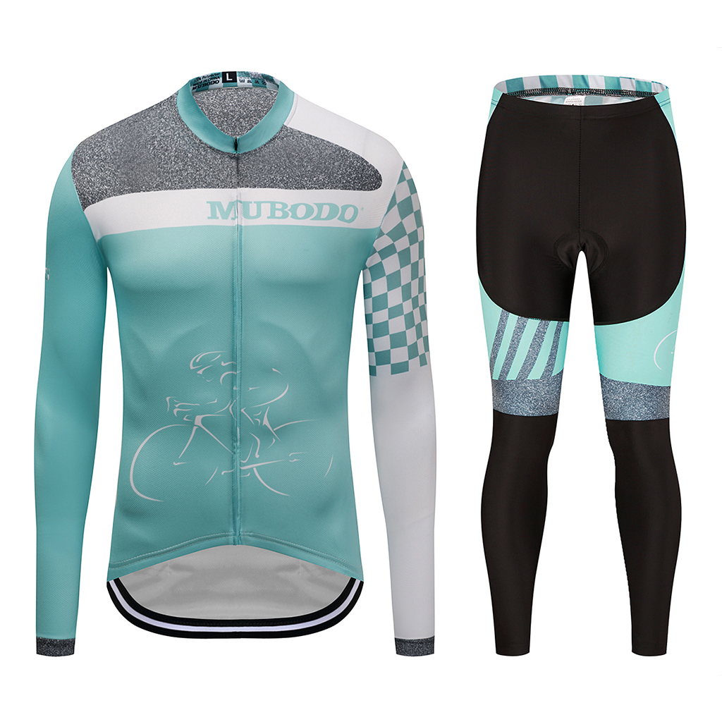 Cycling wear sky blue long sleeve shirt professional cycling jersey outdoor cycling jersey team cycling wear