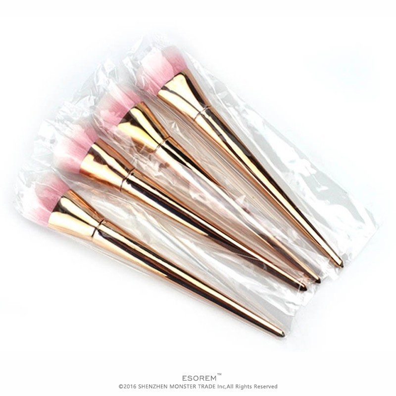 ESOREM Hot Sale Gold Tapered Handle Contour Brush Flat Definer Cosmetic Brushes Buffing Brush Pinceles Maquillaje SG0060 in Eye Shadow Applicator from Beauty Health